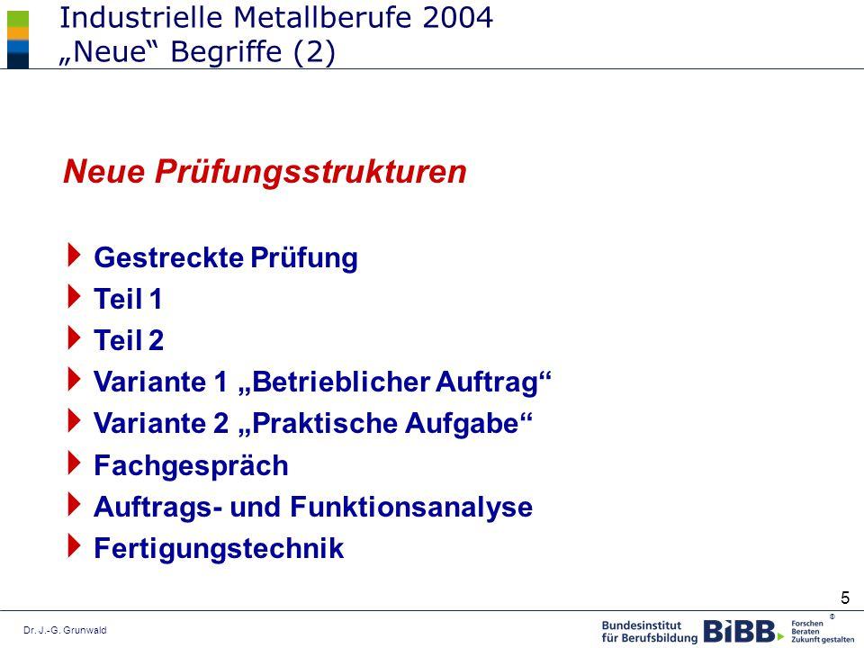 """Industrielle Metallberufe 2004 """"Neue Begriffe (2)"""