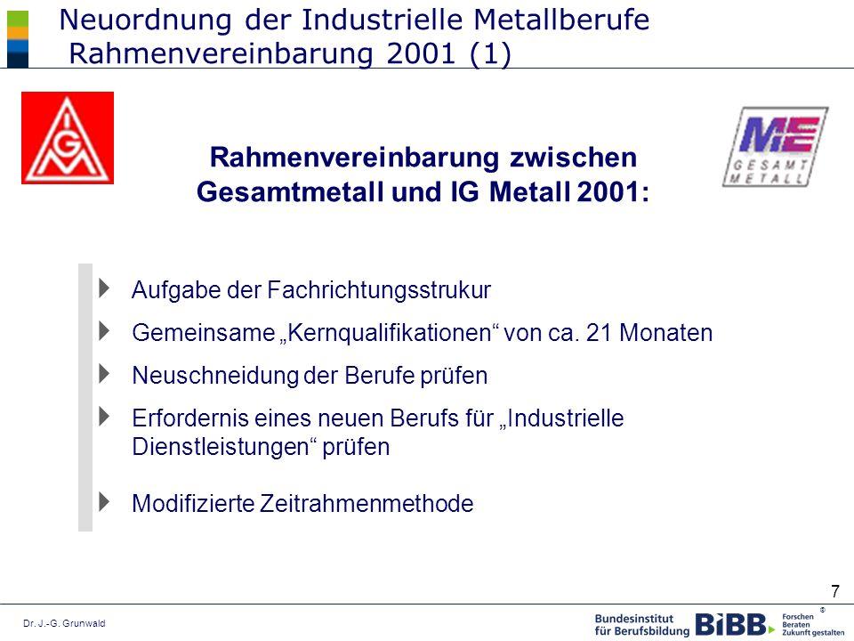 Neuordnung der Industrielle Metallberufe Rahmenvereinbarung 2001 (1)
