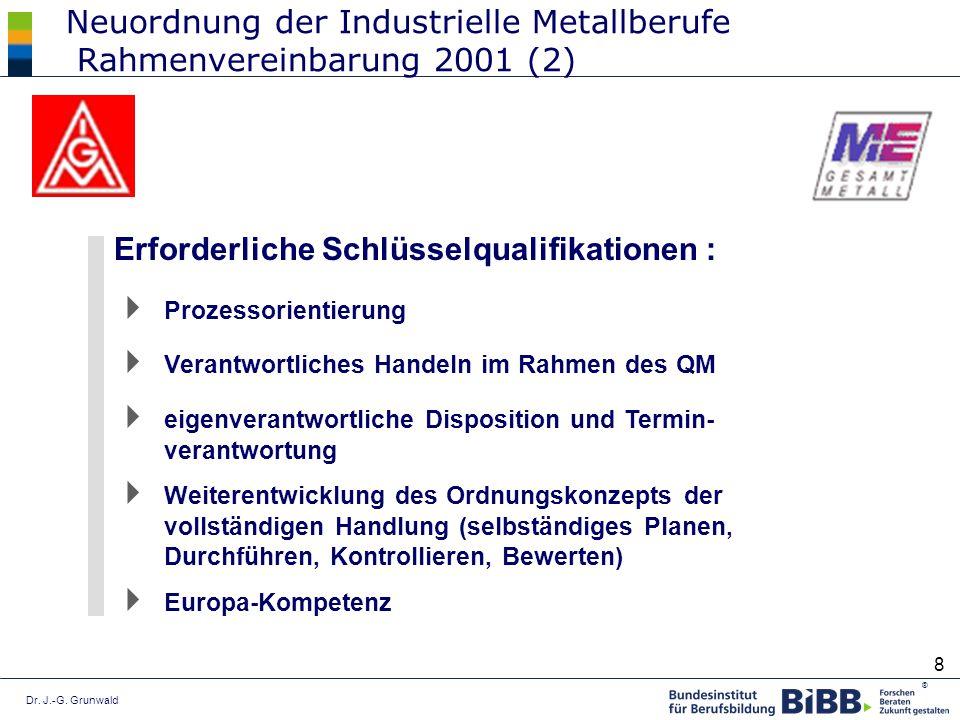 Neuordnung der Industrielle Metallberufe Rahmenvereinbarung 2001 (2)