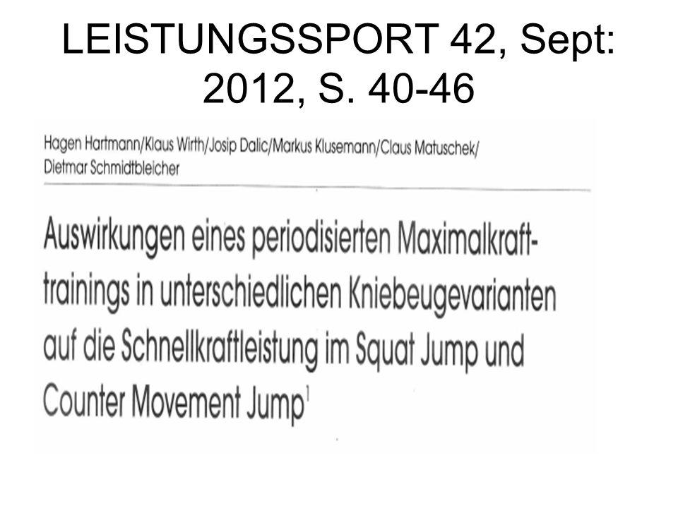 LEISTUNGSSPORT 42, Sept: 2012, S. 40-46