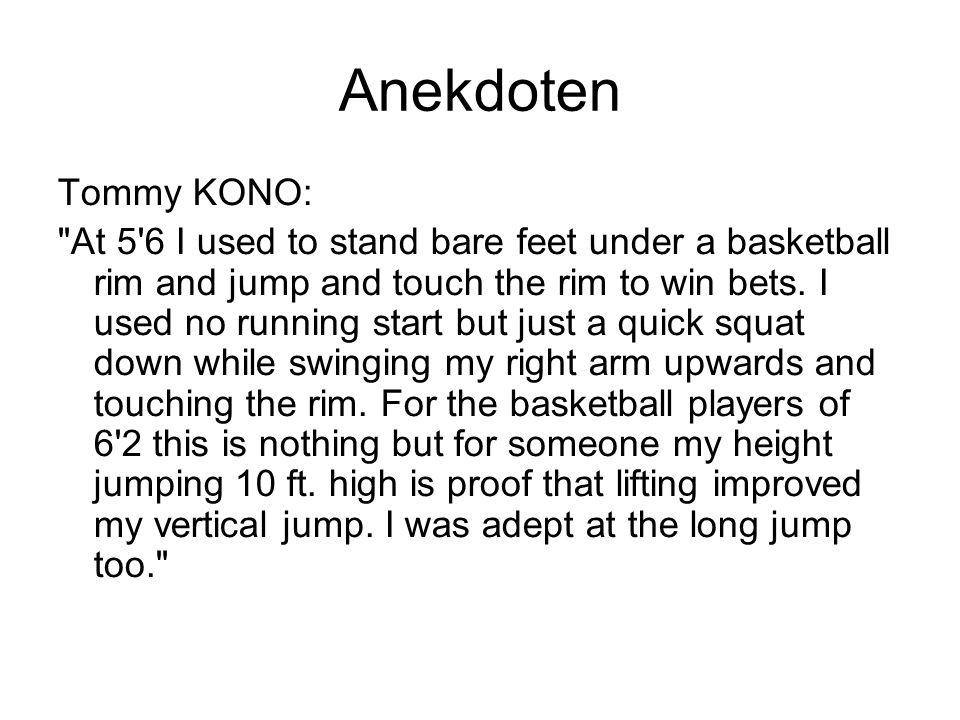 Anekdoten Tommy KONO: