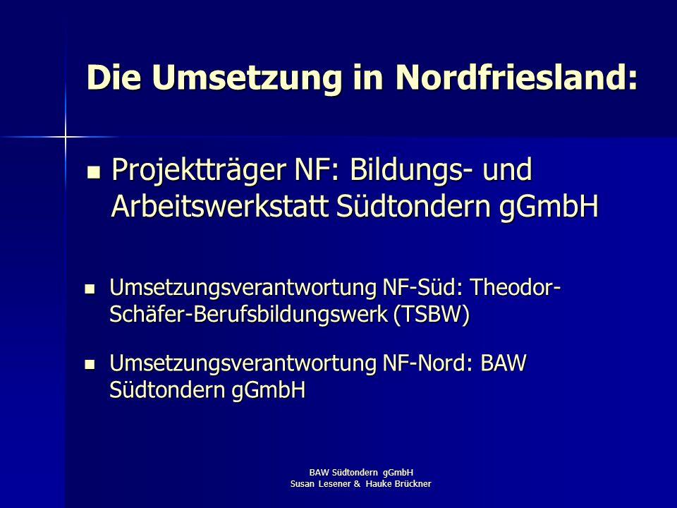 Die Umsetzung in Nordfriesland: