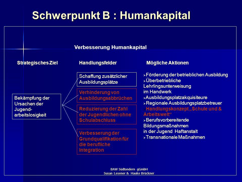 Schwerpunkt B : Humankapital