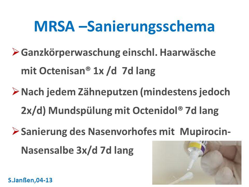 MRSA –Sanierungsschema