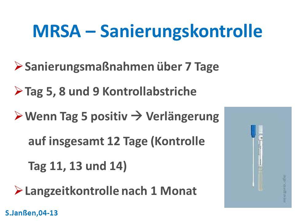 MRSA – Sanierungskontrolle