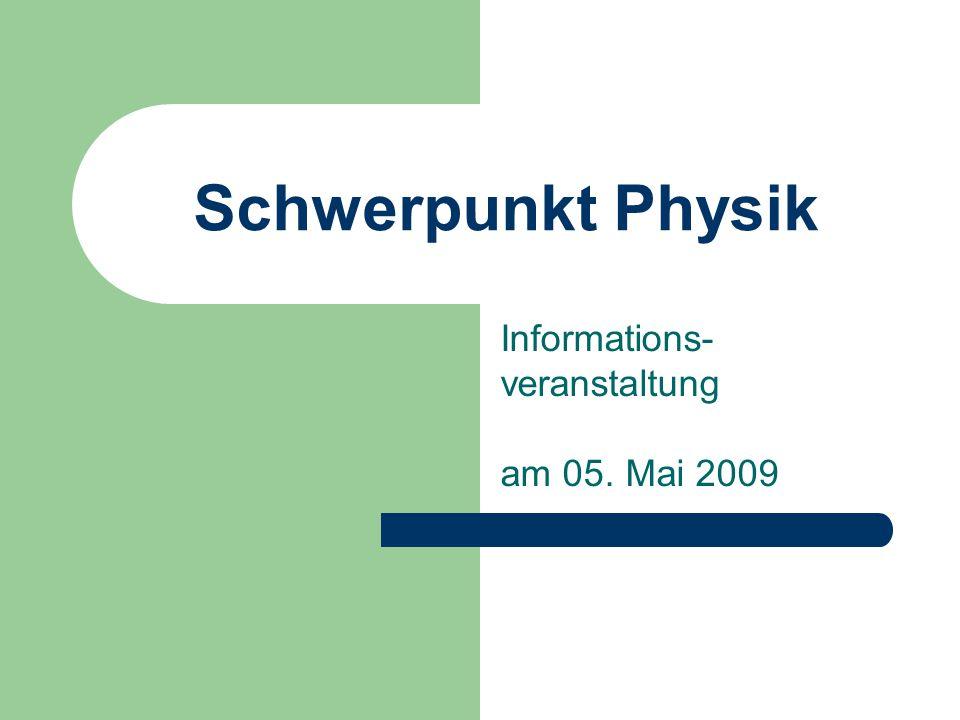 Informations-veranstaltung am 05. Mai 2009