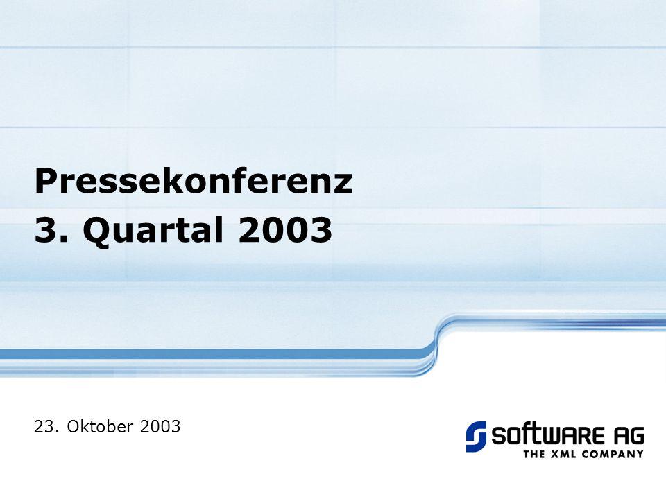 Pressekonferenz - 23. Oktober 2003