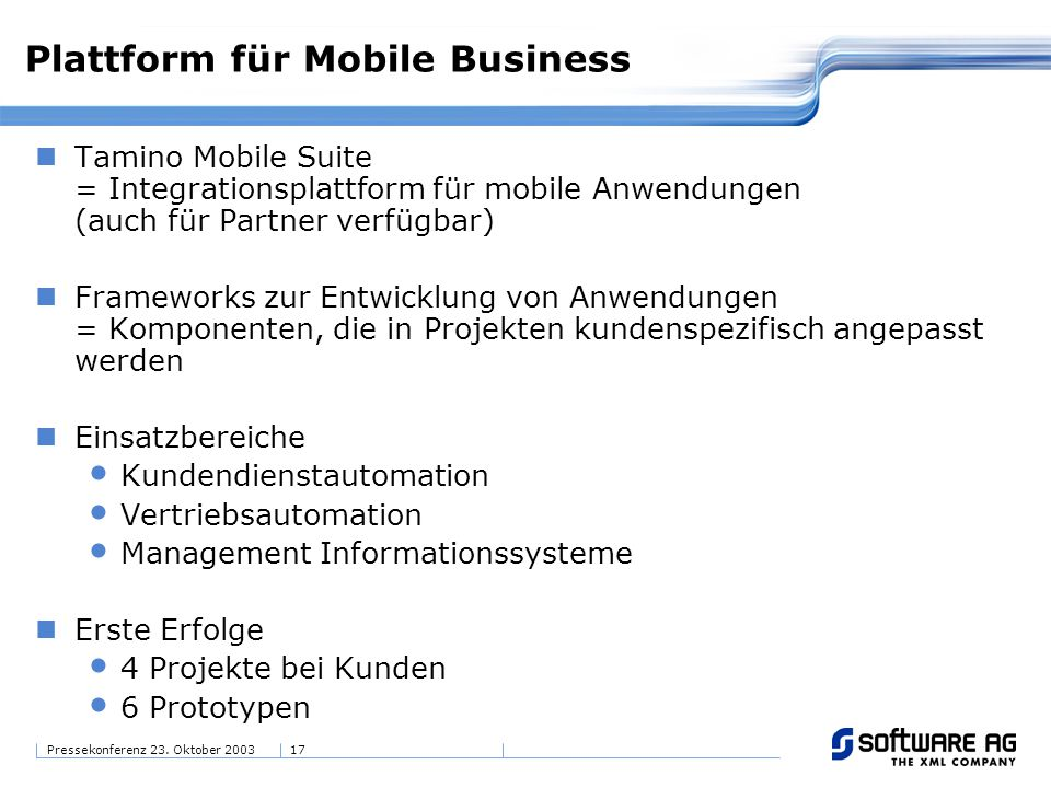 Plattform für Mobile Business