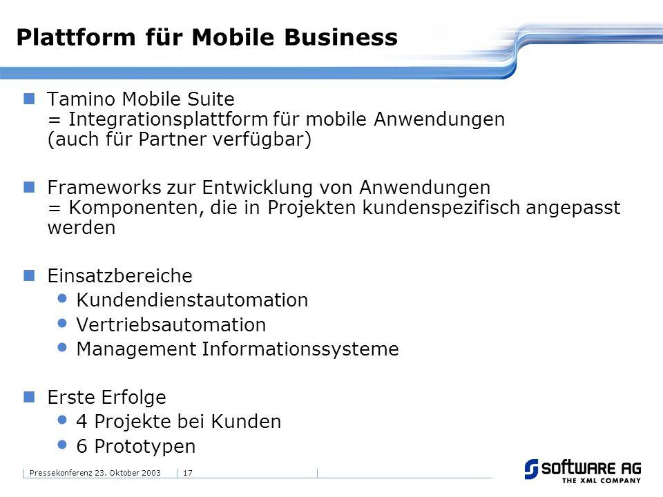 Plattform für Mobile Business