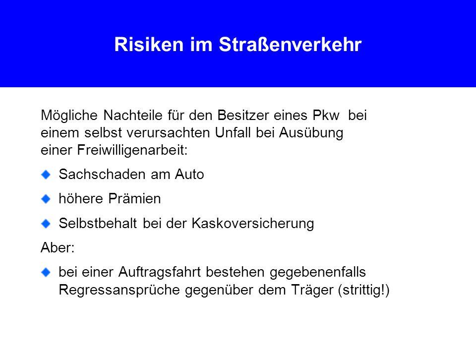 Risiken im Straßenverkehr