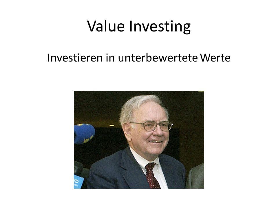Investieren in unterbewertete Werte