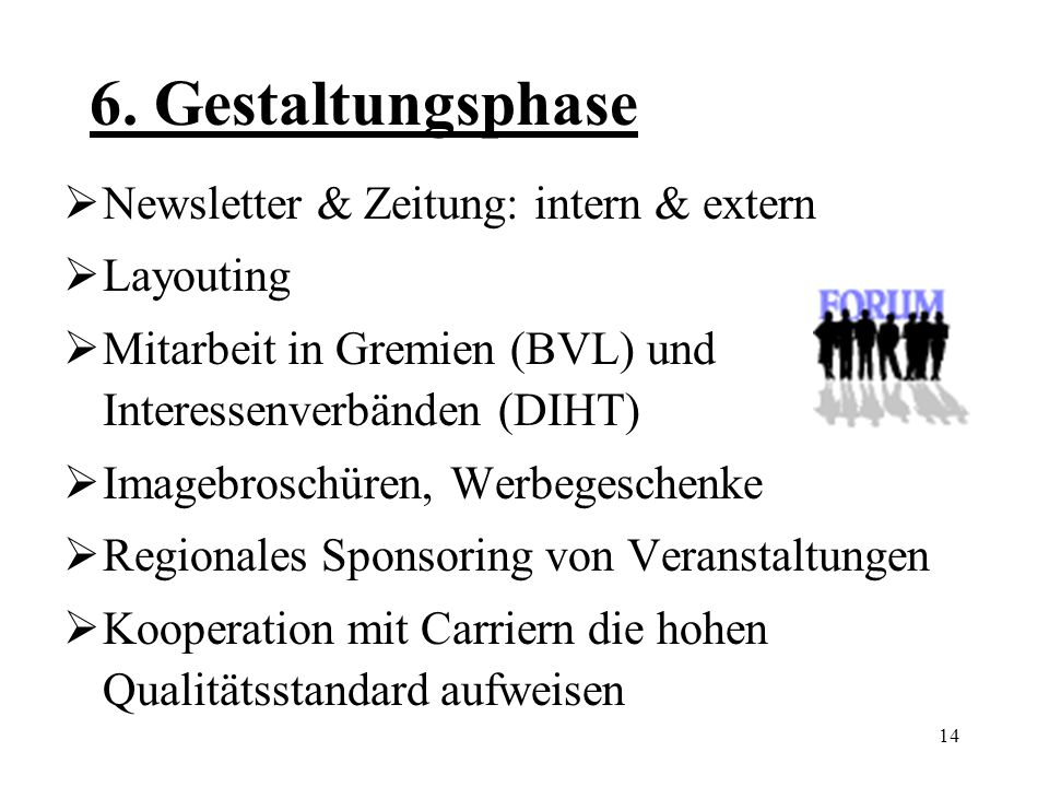 6. Gestaltungsphase Newsletter & Zeitung: intern & extern Layouting