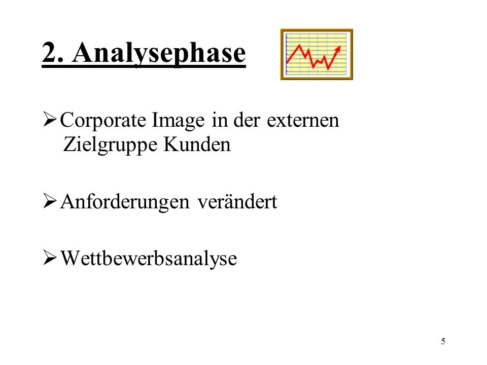 2. Analysephase Corporate Image in der externen Zielgruppe Kunden