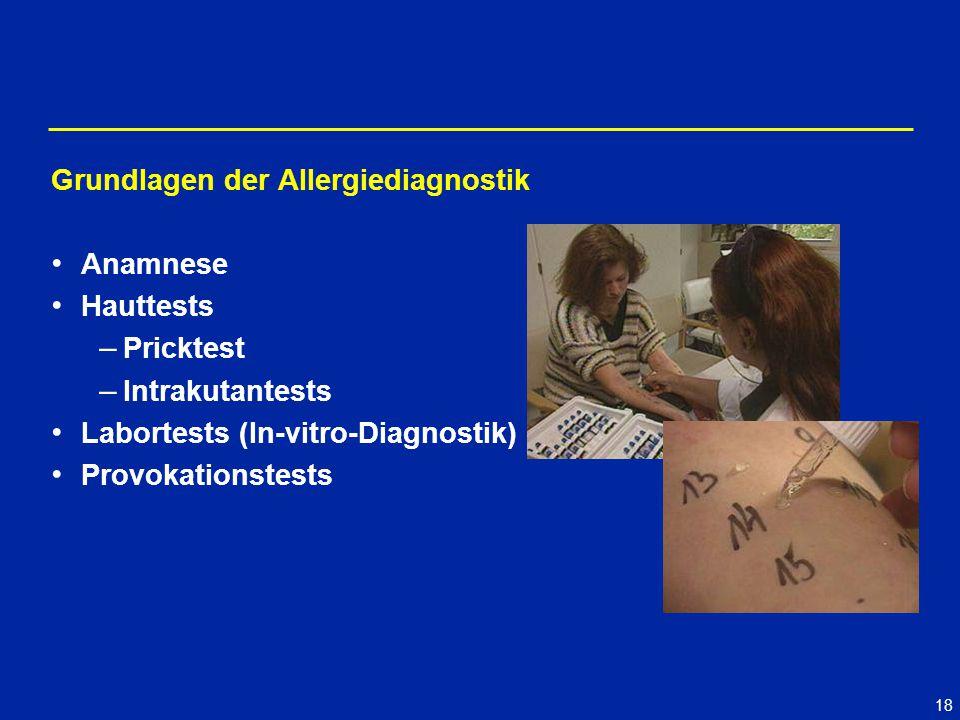 Grundlagen der Allergiediagnostik