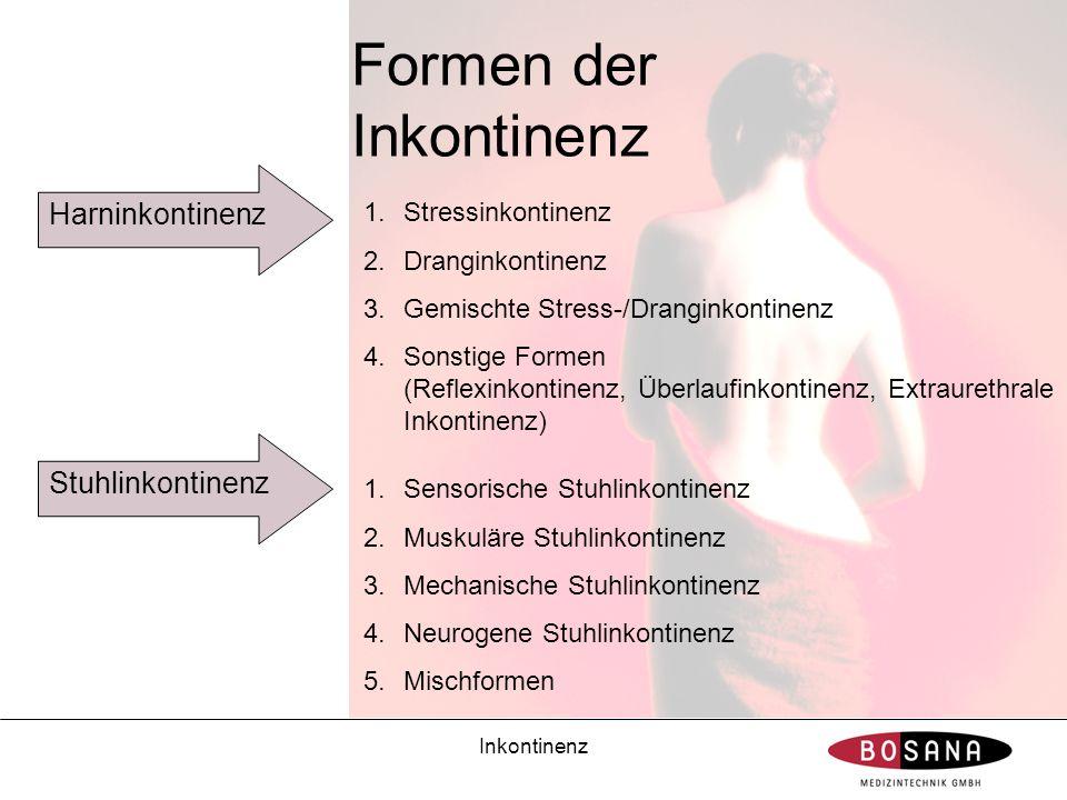 Formen der Inkontinenz