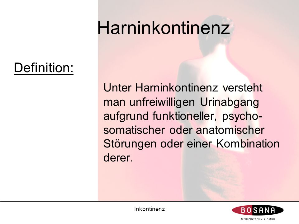 Harninkontinenz Definition: