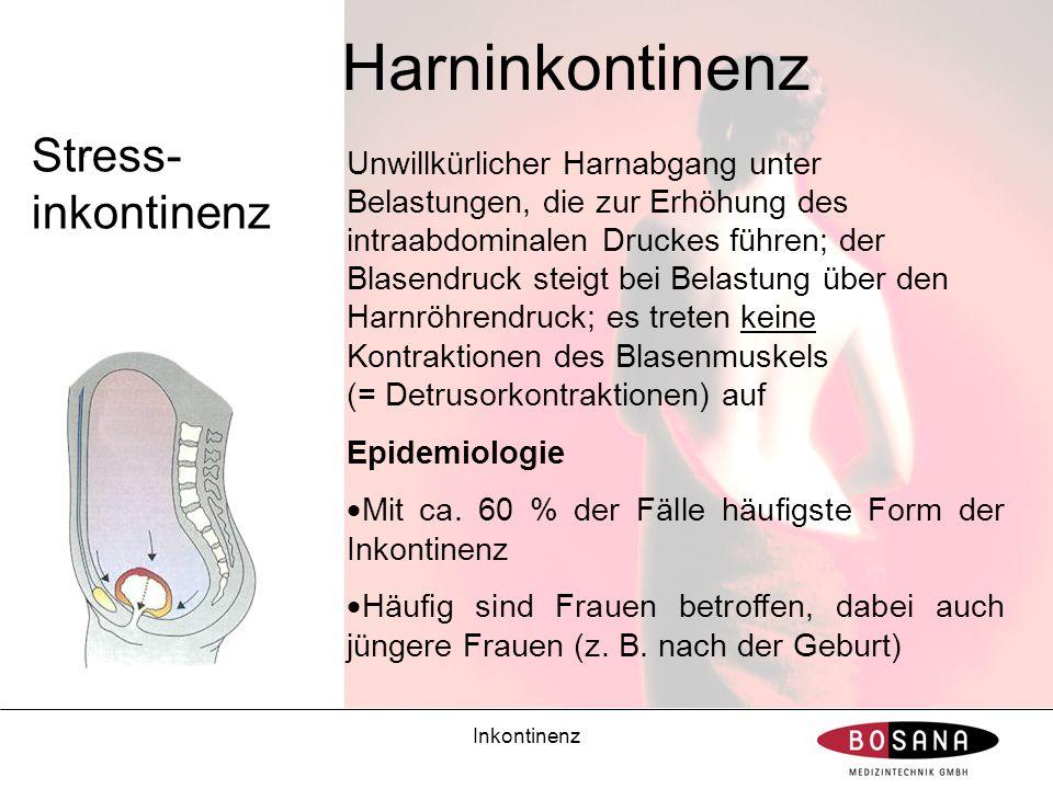 Harninkontinenz Stress-inkontinenz