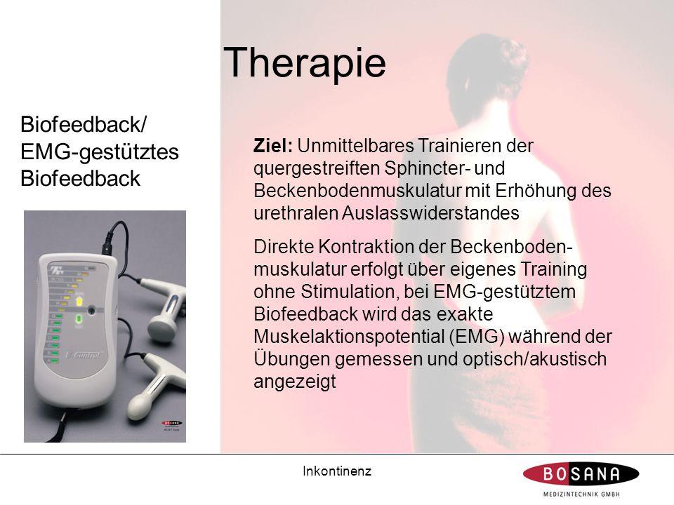 Therapie Biofeedback/ EMG-gestütztes Biofeedback