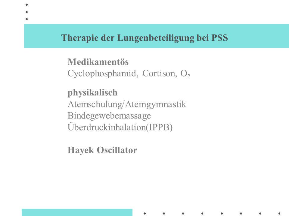 Therapie der Lungenbeteiligung bei PSS