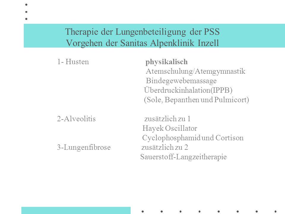 Therapie der Lungenbeteiligung der PSS Vorgehen der Sanitas Alpenklinik Inzell