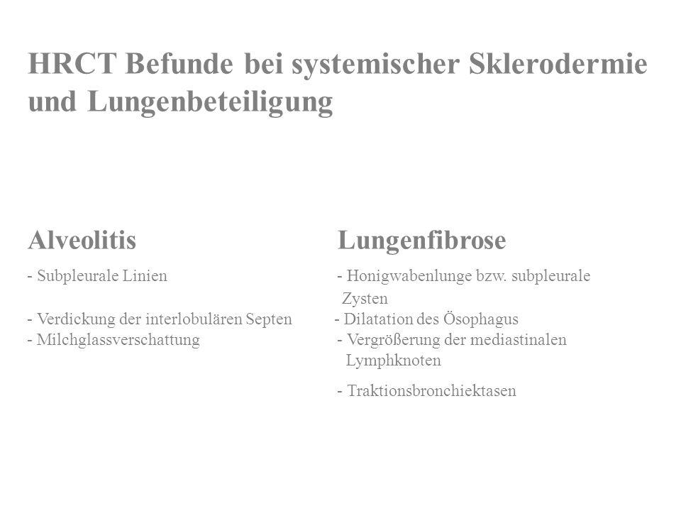 HRCT Befunde bei systemischer Sklerodermie und Lungenbeteiligung