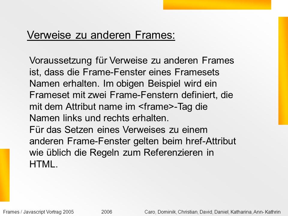 Vortrag: Frames & Javascript. - ppt video online herunterladen