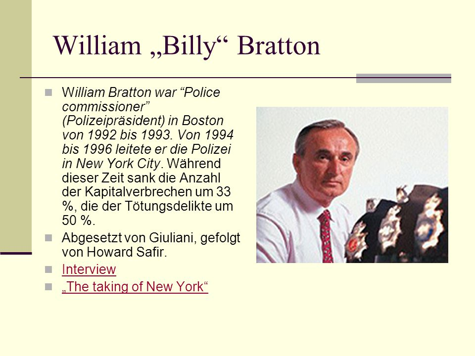 "William ""Billy Bratton"