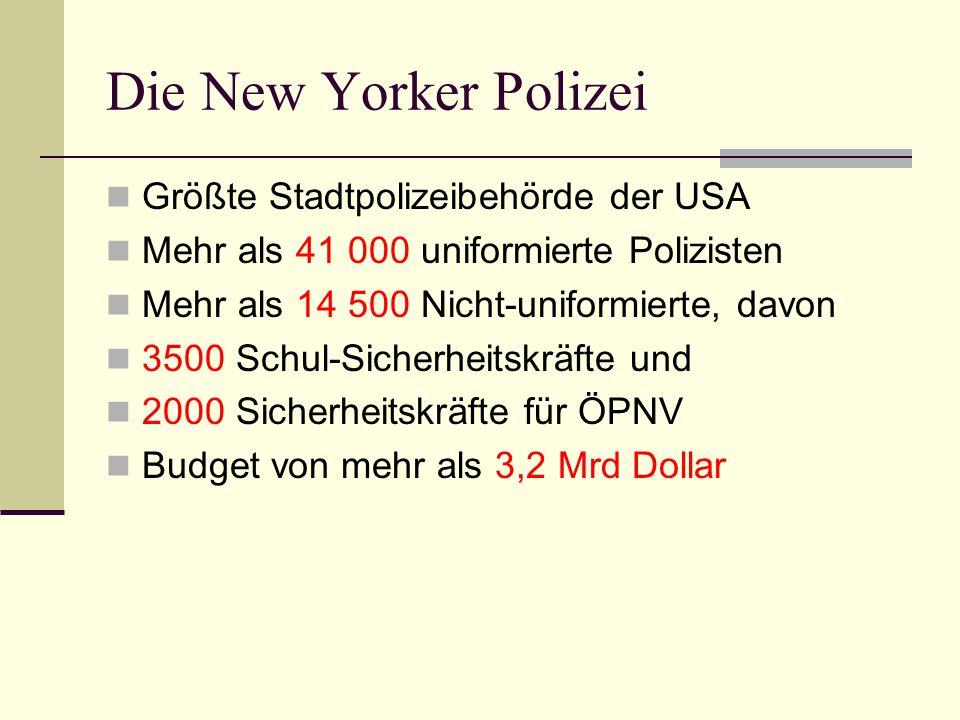 Die New Yorker Polizei Größte Stadtpolizeibehörde der USA