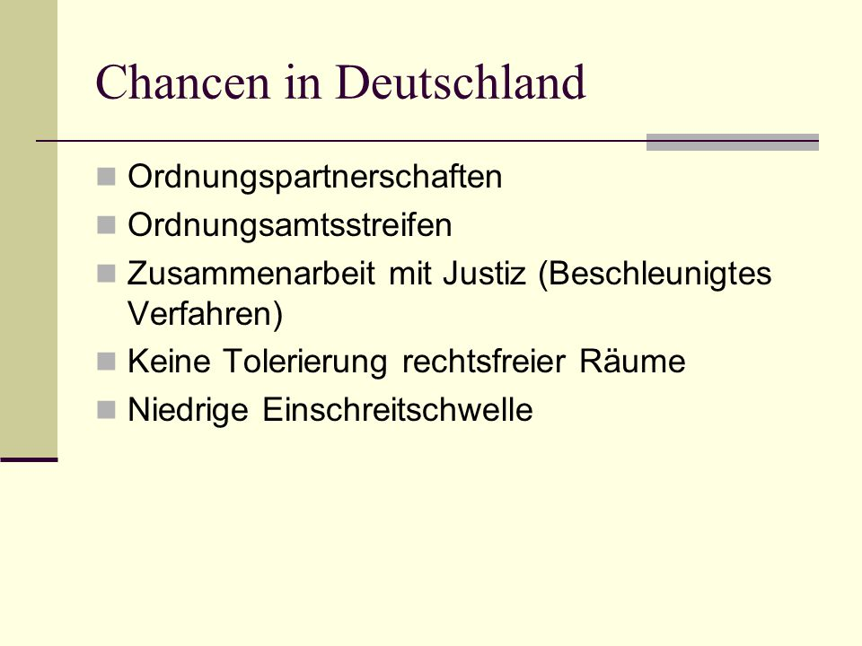 Chancen in Deutschland