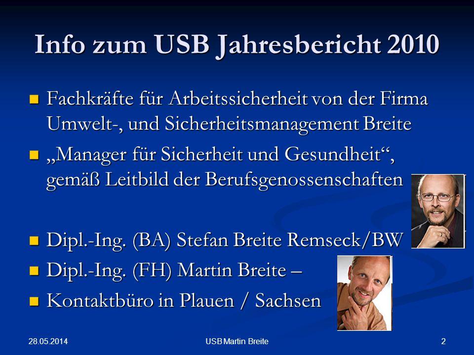 Info zum USB Jahresbericht 2010