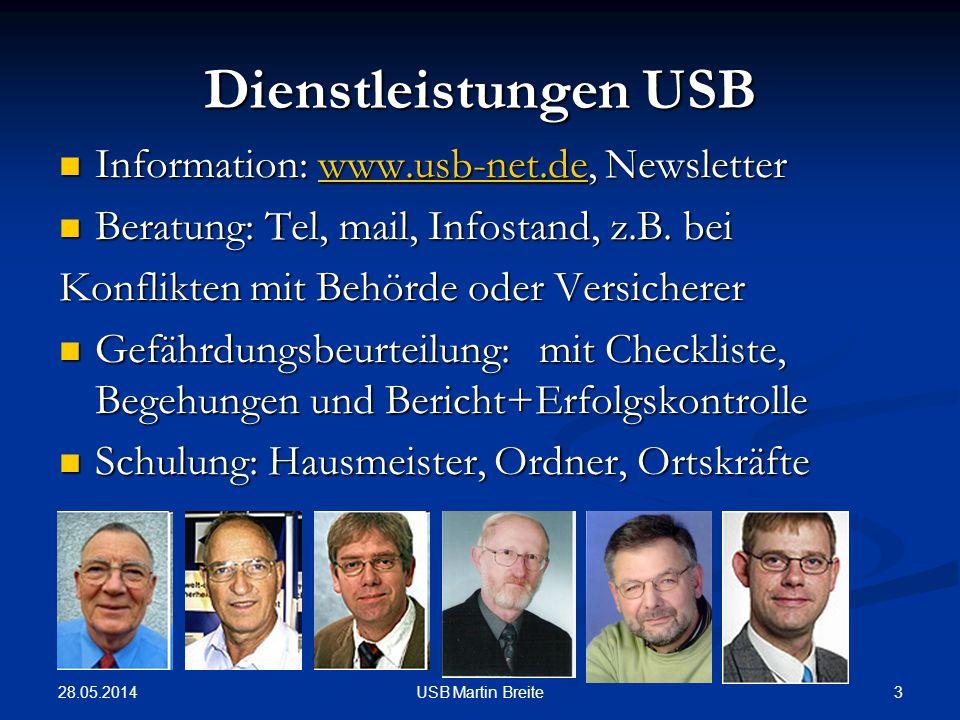 Dienstleistungen USB Information: www.usb-net.de, Newsletter