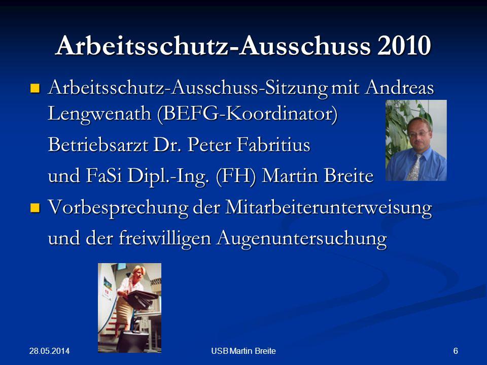 Arbeitsschutz-Ausschuss 2010