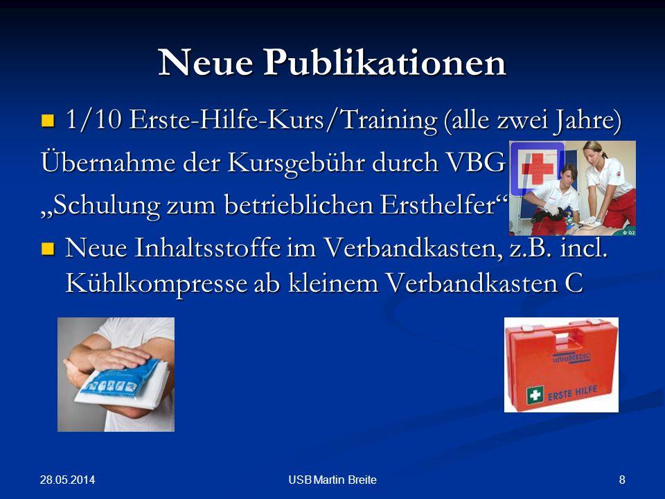 Neue Publikationen 1/10 Erste-Hilfe-Kurs/Training (alle zwei Jahre)