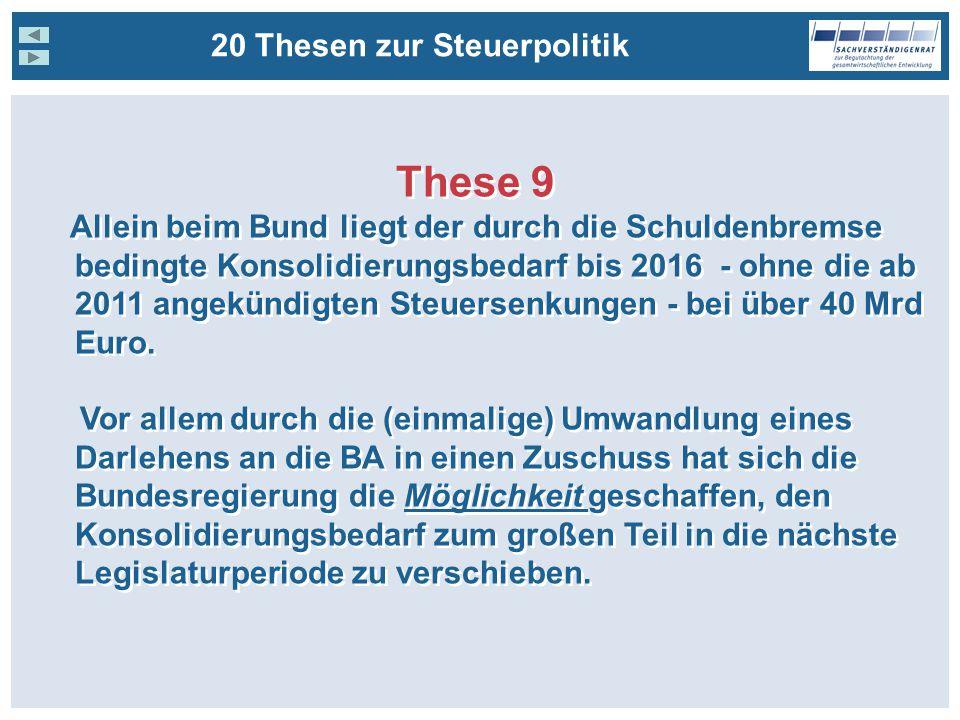 These 9 20 Thesen zur Steuerpolitik