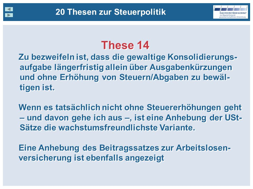 These 14 20 Thesen zur Steuerpolitik