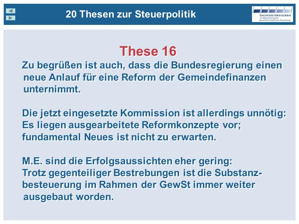 These 16 20 Thesen zur Steuerpolitik