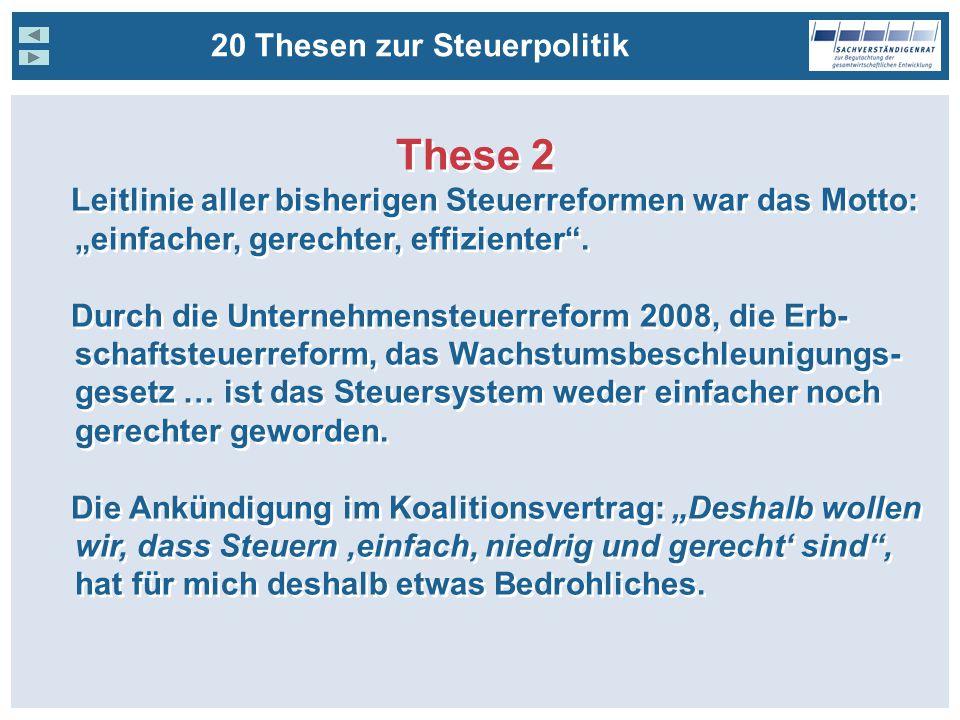 These 2 20 Thesen zur Steuerpolitik