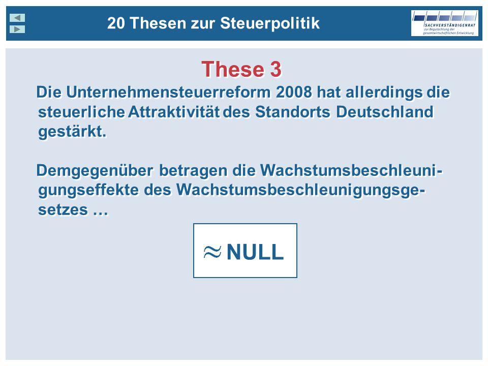 These 3 NULL 20 Thesen zur Steuerpolitik