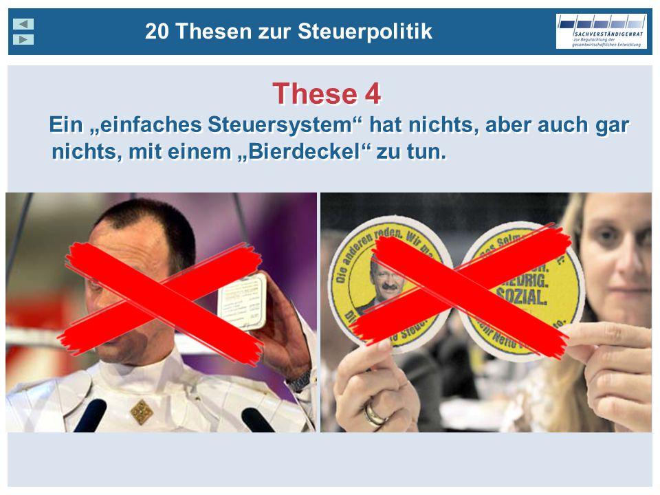 These 4 20 Thesen zur Steuerpolitik