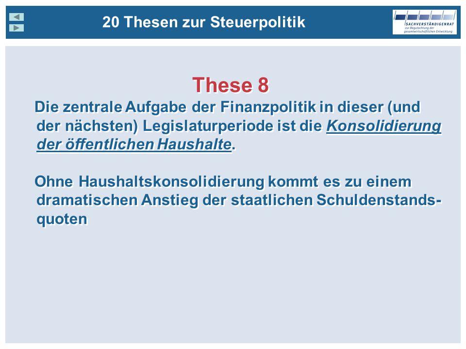 These 8 20 Thesen zur Steuerpolitik