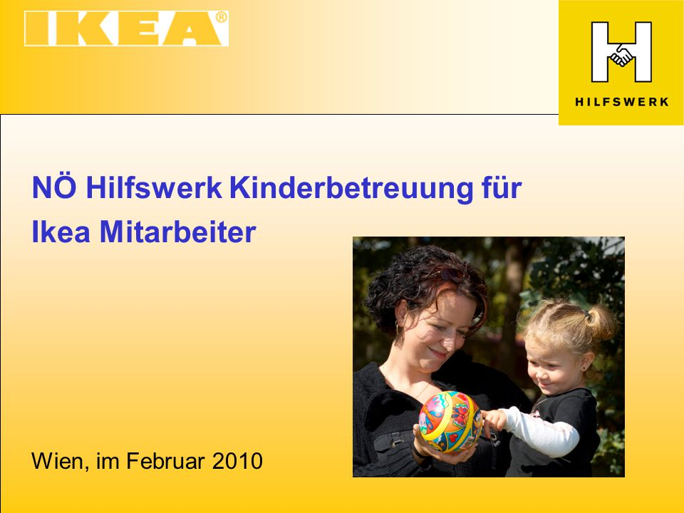 NÖ Hilfswerk Kinderbetreuung für Ikea Mitarbeiter