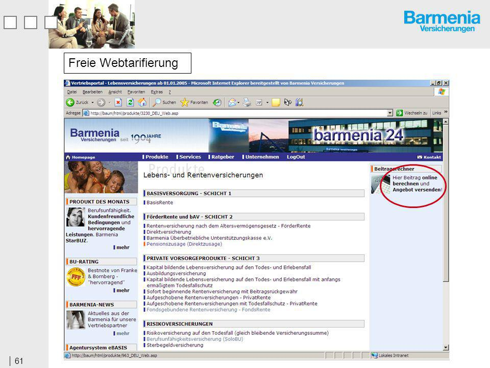 Freie Webtarifierung