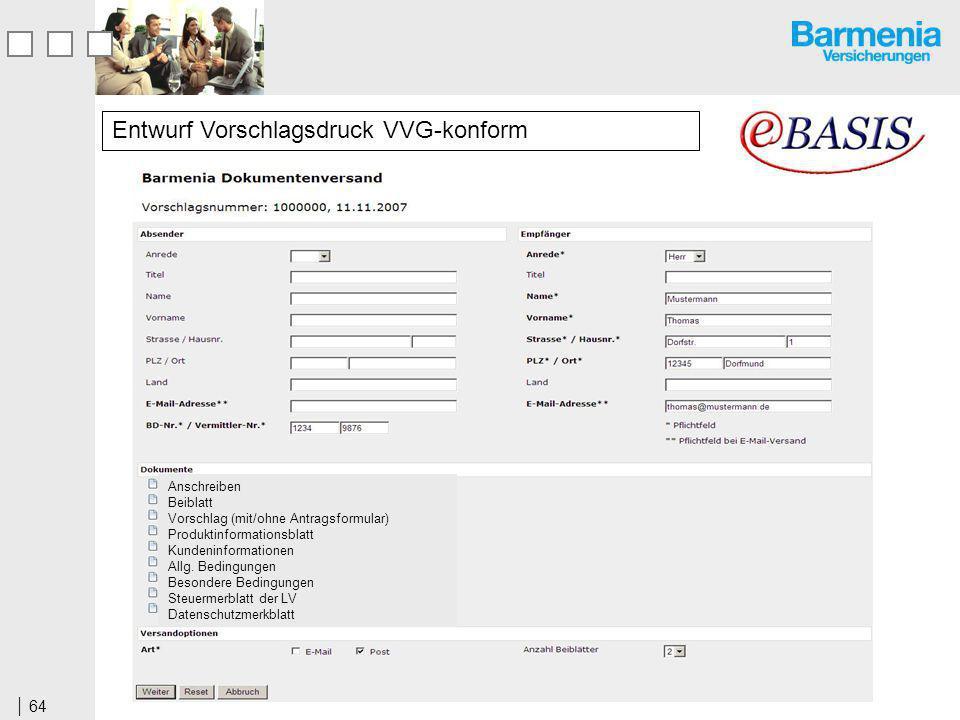 Entwurf Vorschlagsdruck VVG-konform