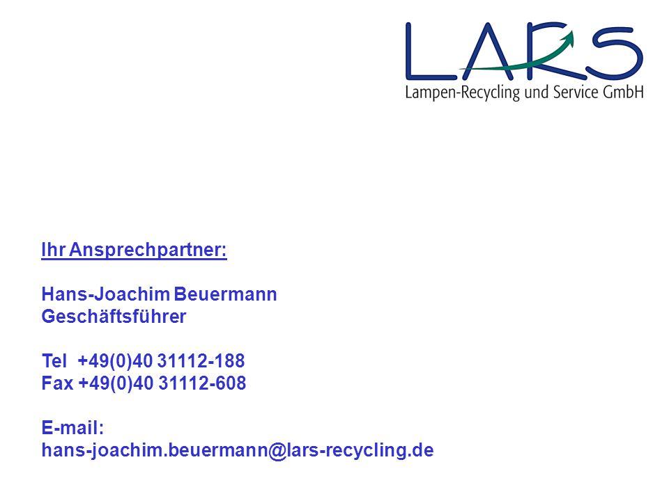 Ihr Ansprechpartner: Hans-Joachim Beuermann. Geschäftsführer. Tel +49(0)40 31112-188. Fax +49(0)40 31112-608.