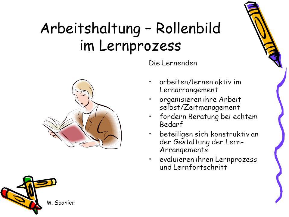 Arbeitshaltung – Rollenbild im Lernprozess