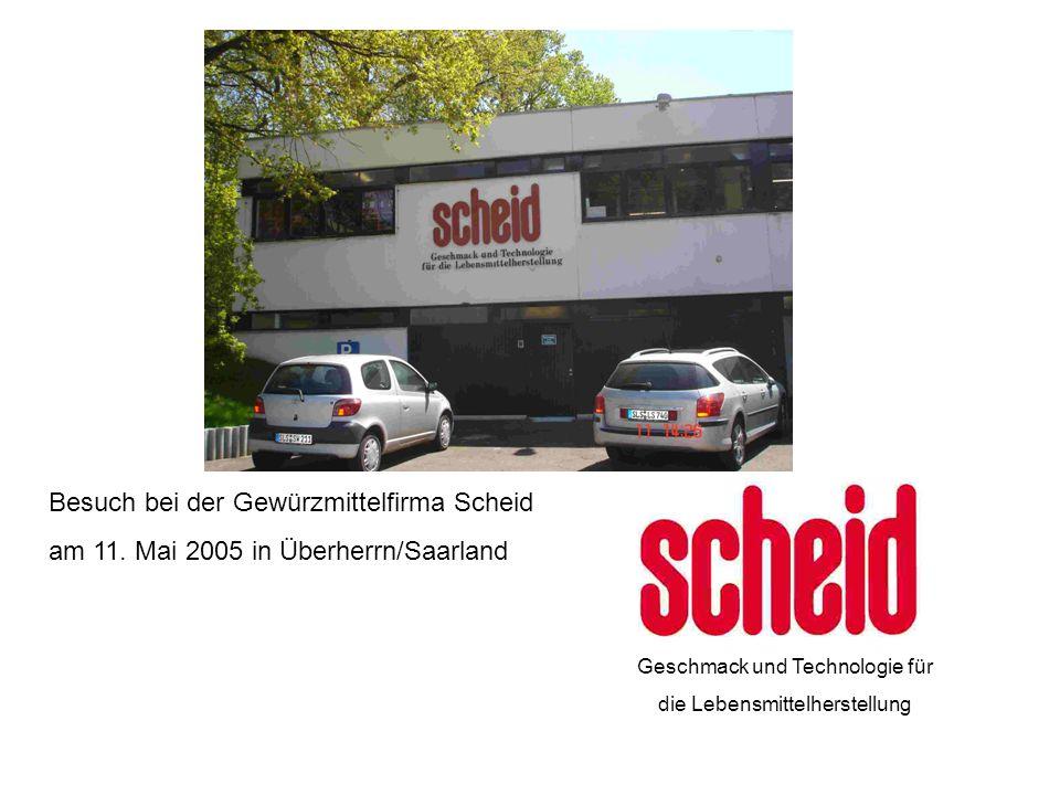 Besuch bei der Gewürzmittelfirma Scheid