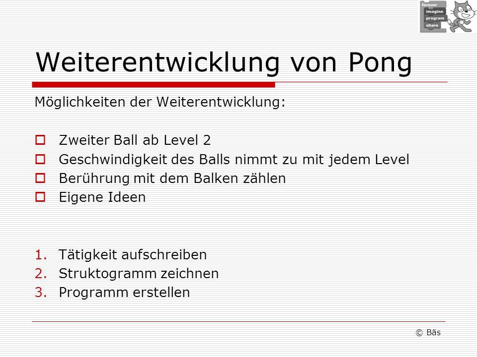 Weiterentwicklung von Pong