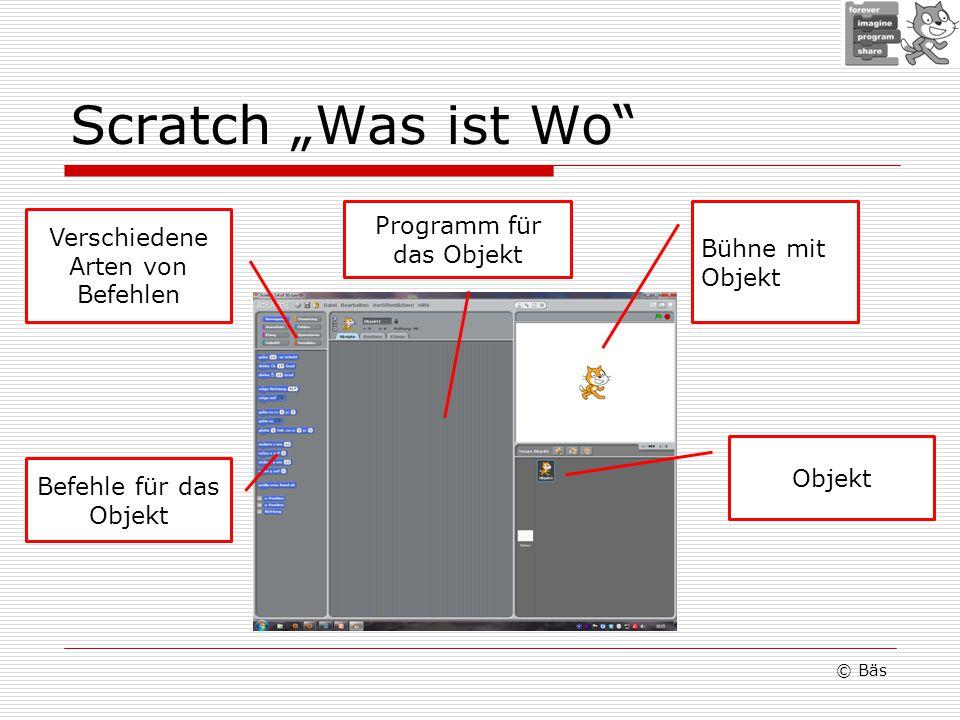 """Scratch """"Was ist Wo Programm für das Objekt"""