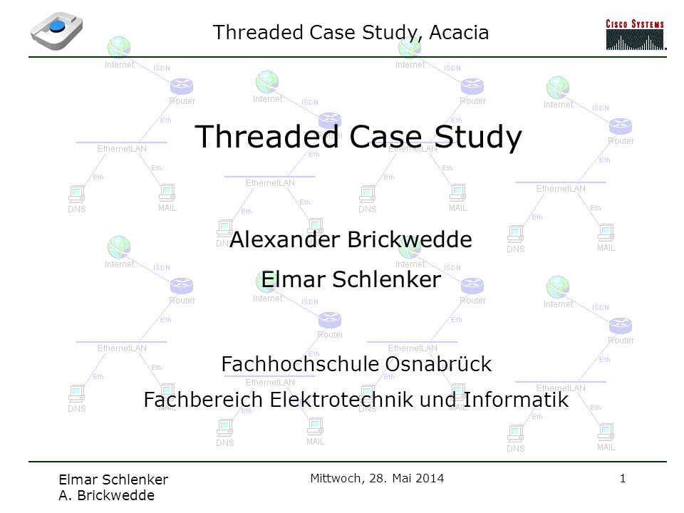 Threaded Case Study Alexander Brickwedde Elmar Schlenker