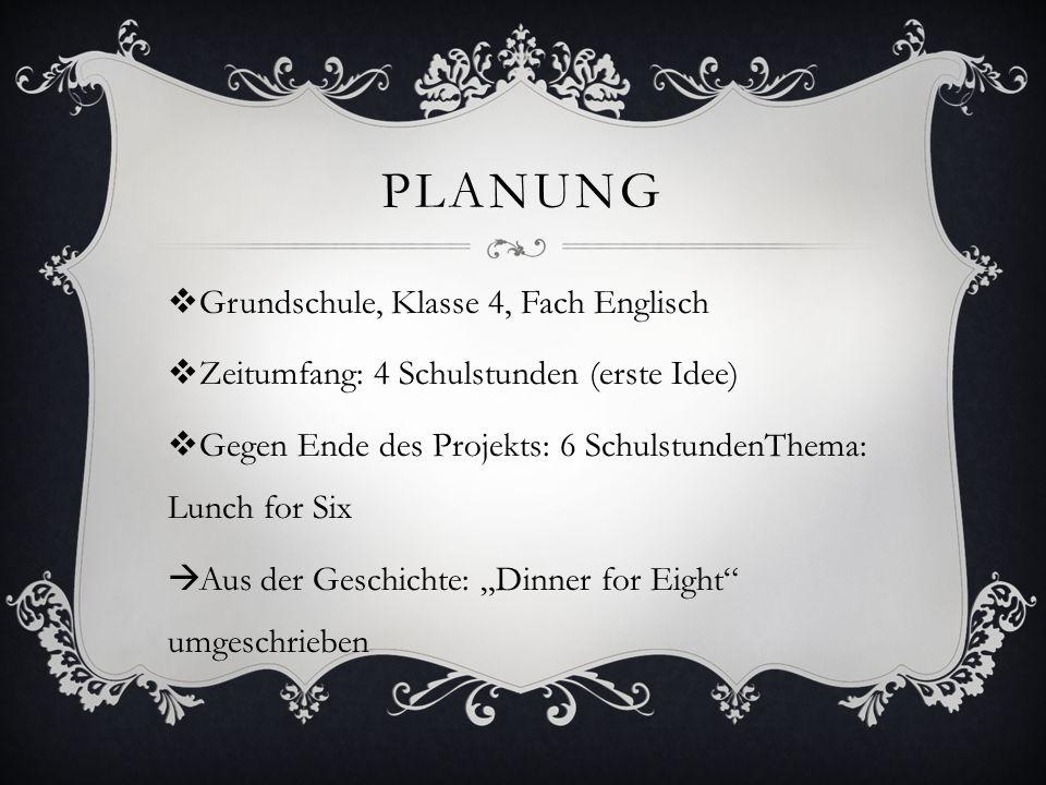 Planung Grundschule, Klasse 4, Fach Englisch